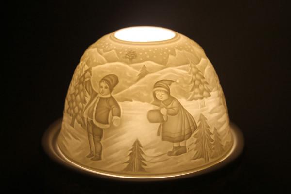 Porzellan Windlicht Dome Light Rodelbahn