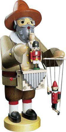 Puppenspieler mit Spielwerk 36cm