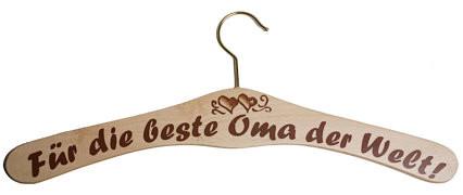 Kleiderbügel aus Holz - für die beste Oma der Welt