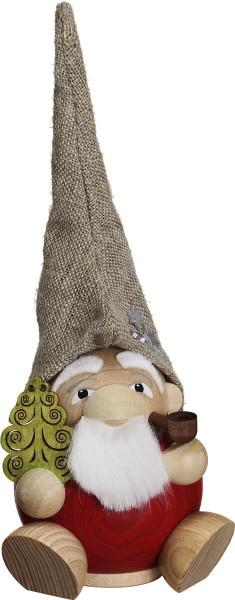 Kugelräucherfigur Waldzwerg Weihnachtsmann 18cm