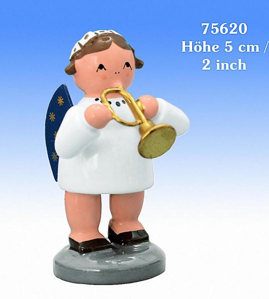 KWO Engel farbig mit Trompete 5cm