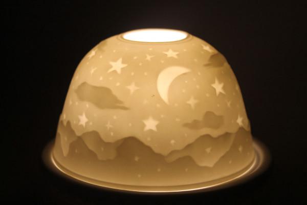 Porzellan Windlicht Dome Light Sternenhimmel