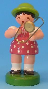 Musikantenkind mit Posaune 6,5cm