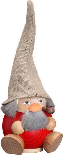 Kugelräucherfigur Waldzwerg, himbeerrot 18cm