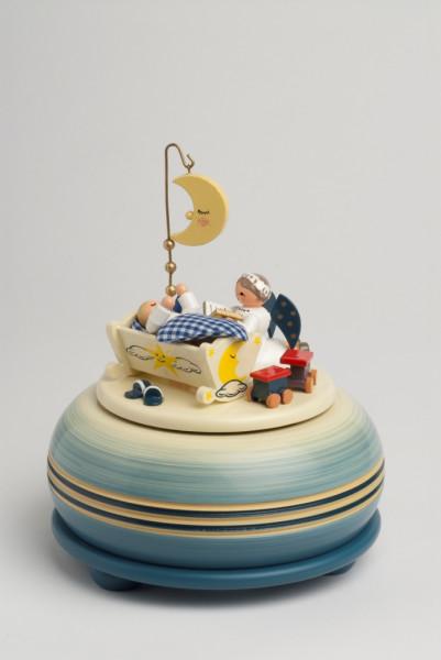 KWO Spieldose 18er Werk Gute Nacht... blau 15cm