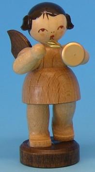 Engel natur mit Trompete 6cm
