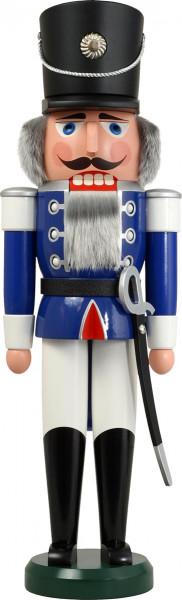 Seiffener Schauwerkstatt - Nussknacker Husar, blau 60cm