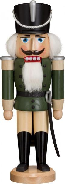 Seiffener Schauwerkstatt - Nussknacker Husar, grün lasiert 38cm
