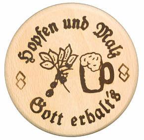 Bierdeckel Hopfen und Malz, Gott erhalt's 10cm