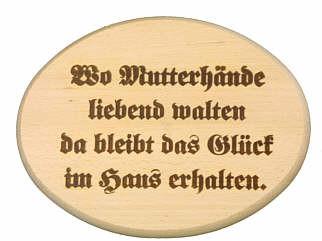 Spruchbrett - Wo Mutterhände liebend walten