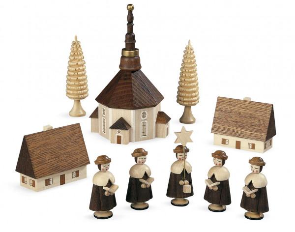 Kurrendegruppe mit Kirche 12cm