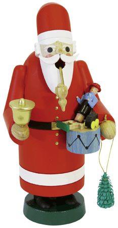Räuchermann Weihnachtsmann mit Spielzeug 18cm