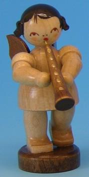 Engel natur mit Oboe 6cm