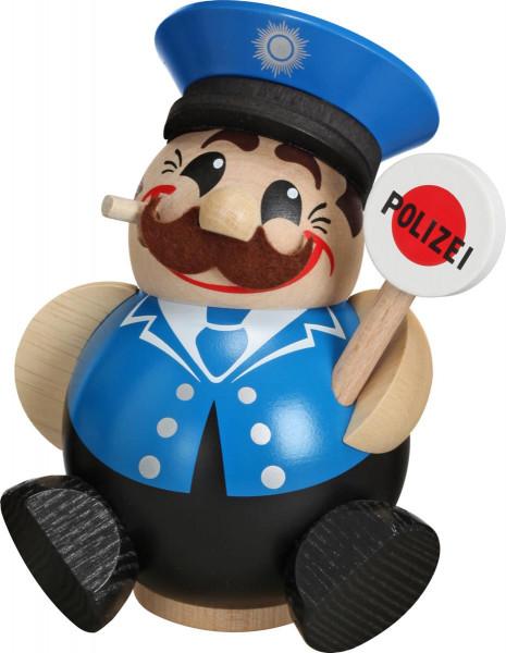 Kugelräucherfigur Polizist 12cm