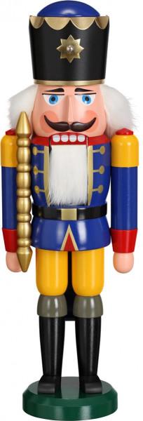Seiffener Schauwerkstatt - Nussknacker König, blau 38cm