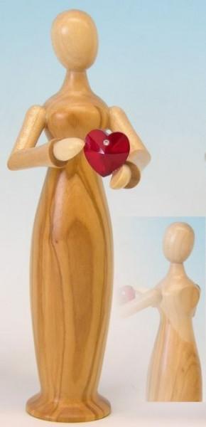 Tugendfigur - Liebe - mit Kristall, natur Höhe 15cm
