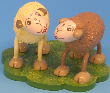 Sammelfigur Schafe Quatschi und Tratschi 5cm