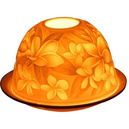 Porzellan Windlicht Dome Light Frangipani