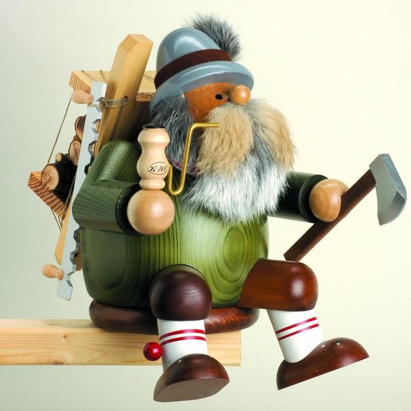 KWO Räuchermann Kantenhocker Holzfäller groß 27cm